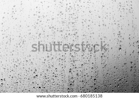 Rain drops on the glass, background #680185138