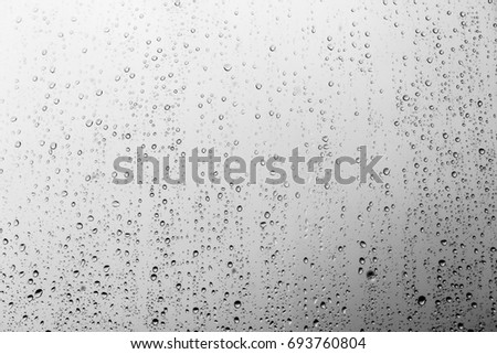 Rain drops on the glass, background #693760804