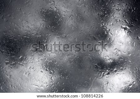 Rain drops on the window