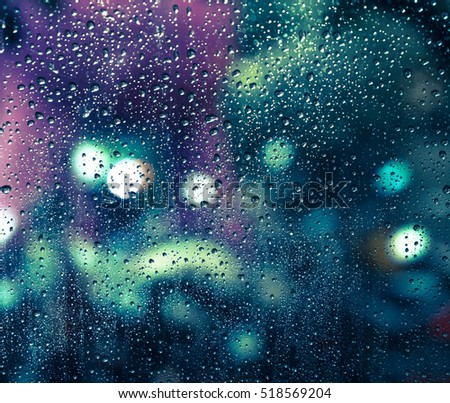 rain drops on the window  ...
