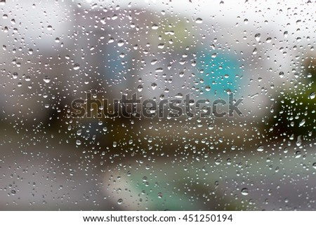 rain drops on window #451250194