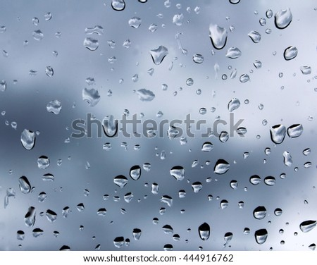 Rain drops wet glass #444916762