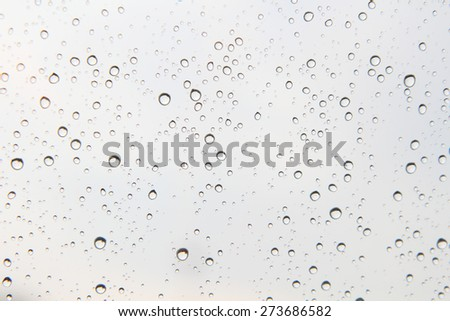 rain fall on the glass  #273686582