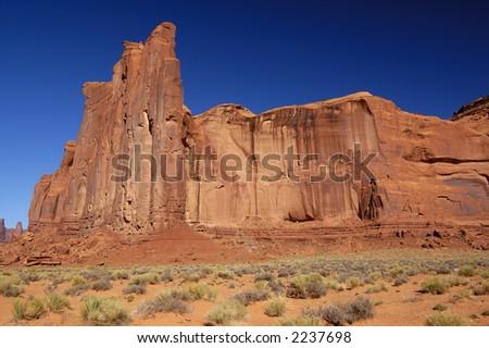Rain God Mesa in Monument Valley (Navajo Nation, Utah) - horizontal orientation.