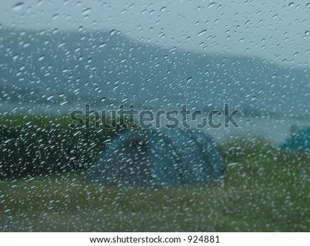 rain in camping