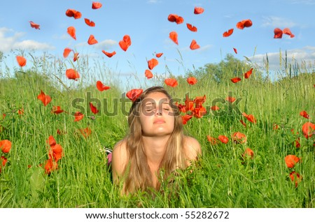 Rain of flowers