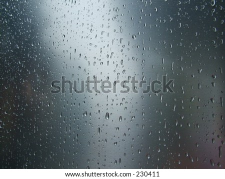 Rain on curved steel