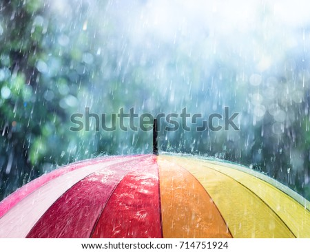 Photo of  Rain On Rainbow Umbrella