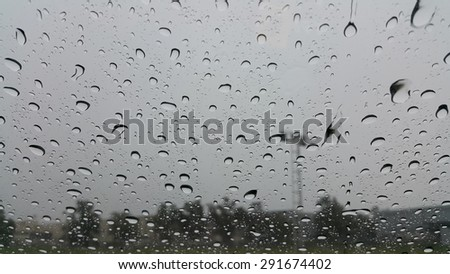 Rain on the glass car #291674402