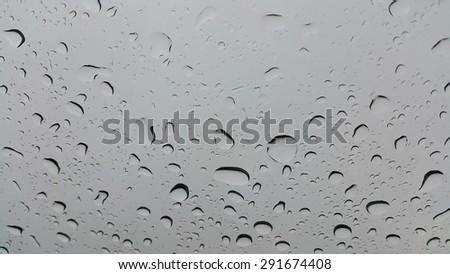 Rain on the glass car #291674408