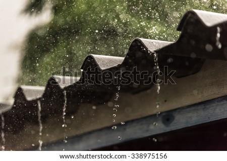 Rain on the Roof ストックフォト ©