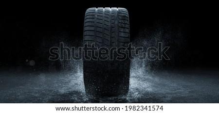 Rain tires - car tires - annual tires - profile (3D rendering)
