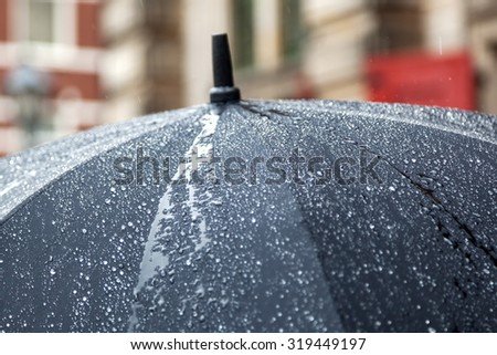 rain umbrella with rain drops #319449197