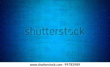 rain water drops on blue abstract background