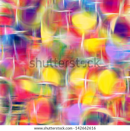 Rainbow abstract background with grunge fuzzy circles and stripes