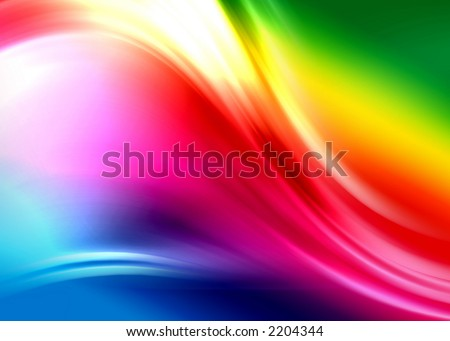 rainbow abstract composition