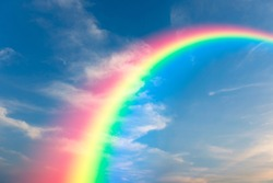 Rainbow and sky background