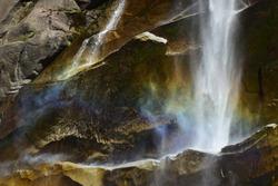 Rainbow being created at Verna Falls, CA