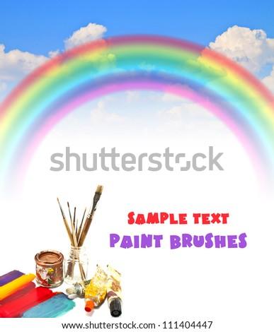 rainbow blue summer sky Paint Brushes