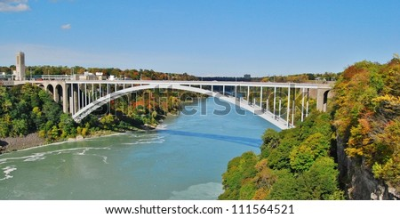 Rainbow Bridge at Niagara Falls USA, and Canada Border