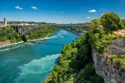 Rainbow Bridge at Niagara, New York, USA.