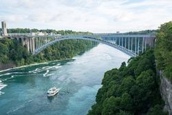 Rainbow Bridge in Niagara river