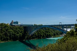 Rainbow Bridge on border of Canada and United States