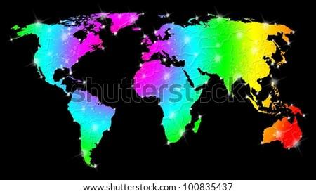 Rainbow Bright World Map