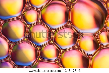 Rainbow bubbles abstract background - stock photo