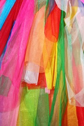 Rainbow clothes background.