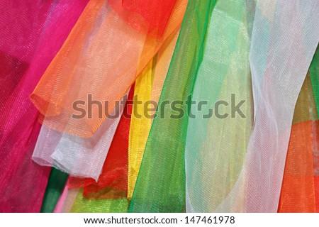 Rainbow clothes background.