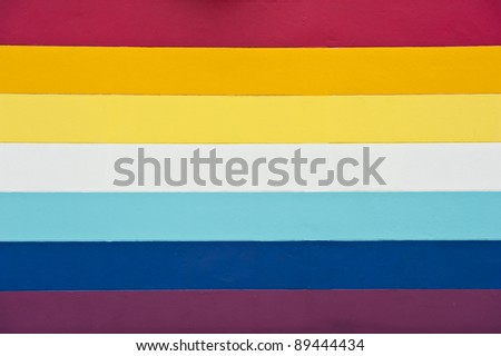 Rainbow color background with texture on a wall