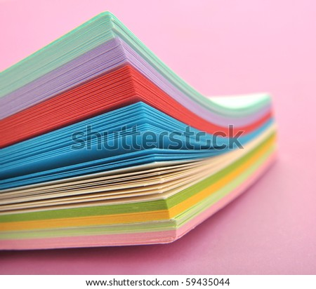 Rainbow colored paper