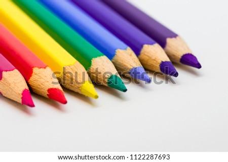 rainbow colored pencils Crayon, color, color background #1122287693
