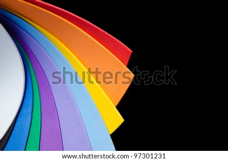 Rainbow colorful paper for background