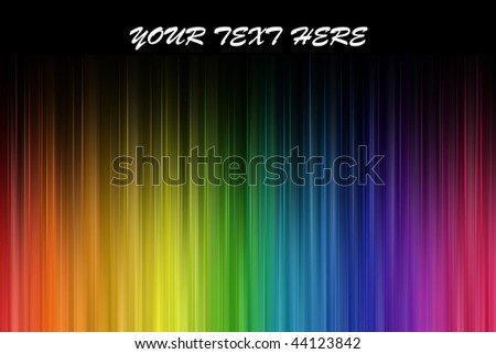 Rainbow colors frequencies, with your text here