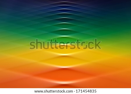 Rainbow colors in a swirl design.