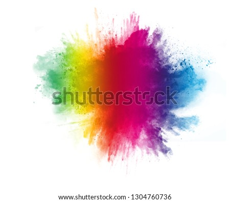 Rainbow colors on white background