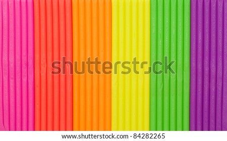 Rainbow colors plasticine texture