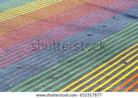 Shutterstock Rainbow Crosswalk at the Intersection of Castro and 18th streets in the Castro District of San Francisco, California done by the Castro Street Improvement Project.