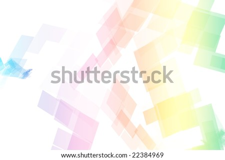 abstract wallpaper rainbow. stock photo : Rainbow Data Tech Blocks Abstract Wallpaper Background