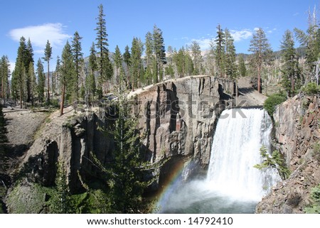 Rainbow Falls at Mammoth Lakes, CA