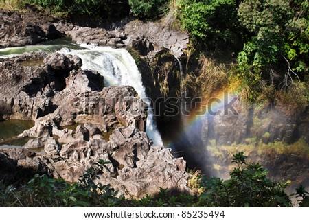 Rainbow Falls, waterfall on the Big Island of Hawaii.