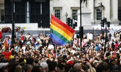 Rainbow flag in London's Gay Pride