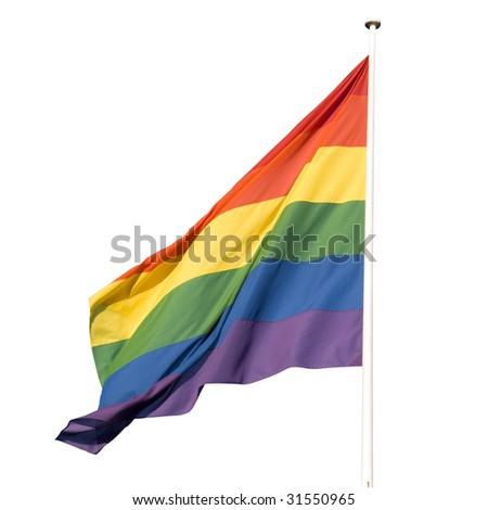 rainbow flag isolated