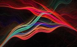 Rainbow fractal smoke wisps