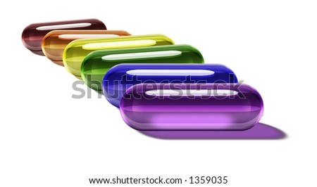 Rainbow Gel Pills - Horizontal