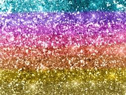 Rainbow glitter background texture
