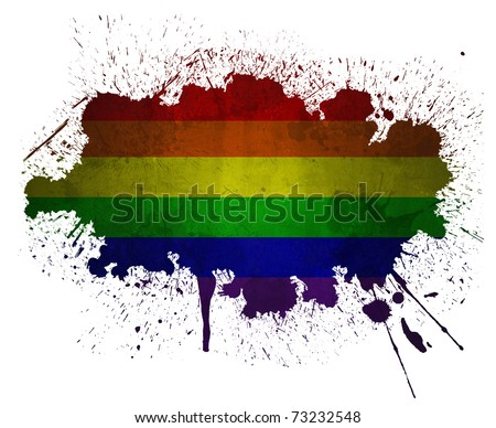 Rainbow grunge flag paint splatter