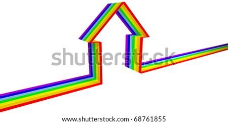 Rainbow House Symbol of The